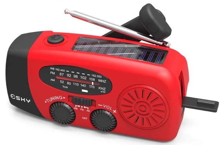 SOS Radio mit Solarzelle.