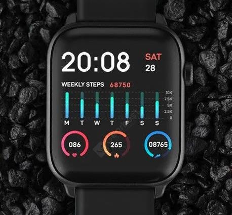 TICWRIS GTS Smartwatch Display