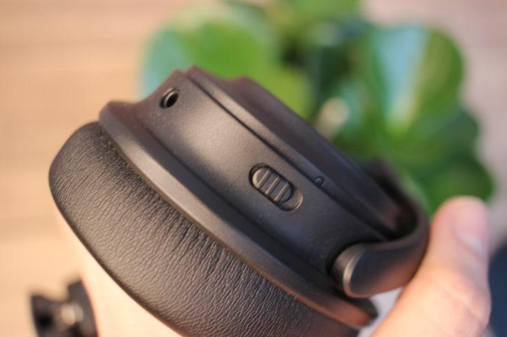 TaoTronics Soundsurge 85 TT-BH085 ANC Schalter und Klinke