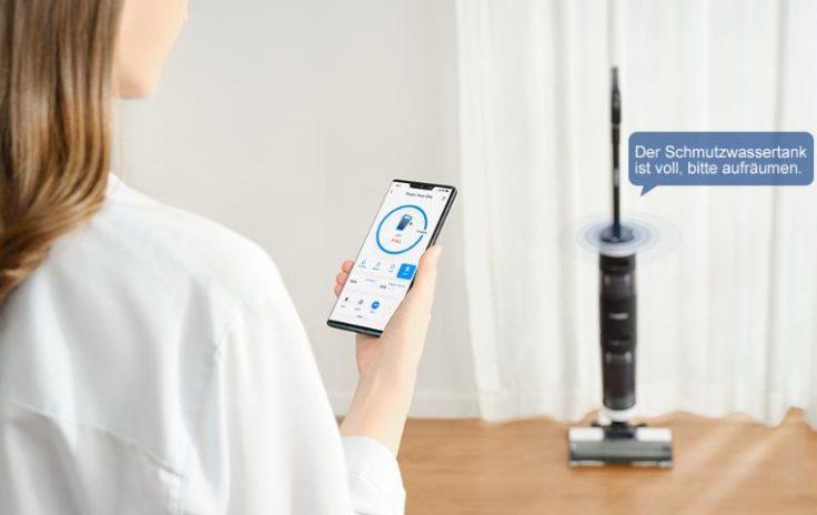 Tineco Floor One S3 Akkustaubsauger App Steuerung