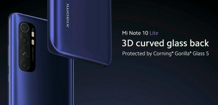 Xiaomi Mi Note 10 Lite Rueckseite