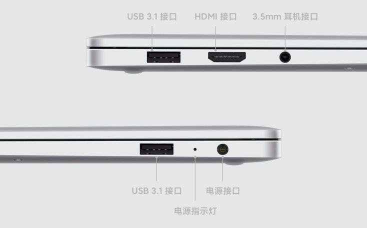 Xiaomi RedmiBook 13 Laptop Anschluesse