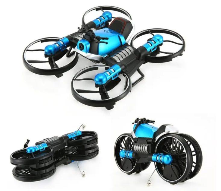 2 in 1 Drohne Motorrad