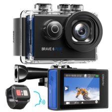 AKASO Brave 6 Plus Action Cam mit Fernsteuerung und Display