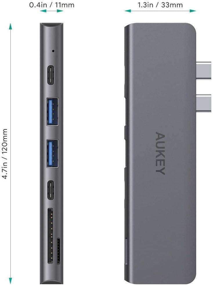 Aukey MacBook Hub Masse