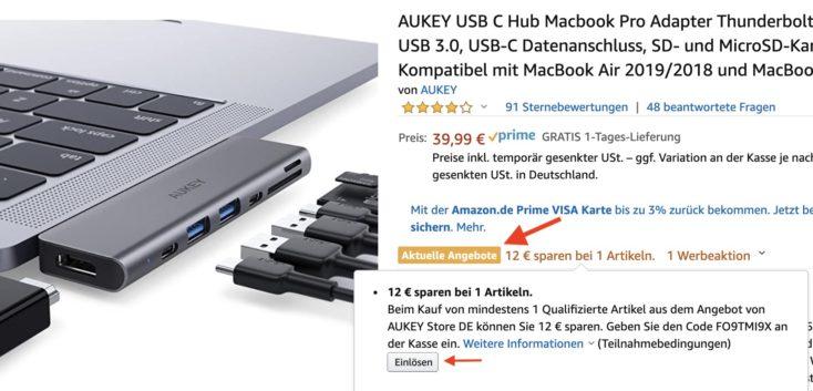 Aukey USB Hub MacBook Amazon