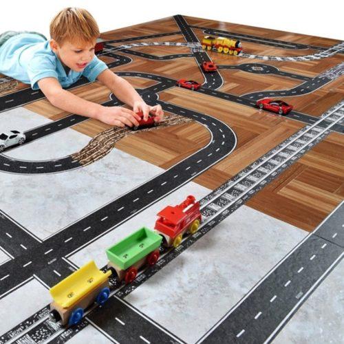 Eisenbahn Aufkleber mit Kind