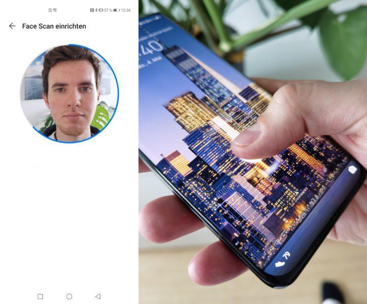 Huawei P40 Pro Face Unlock Fingerabdrucksensor