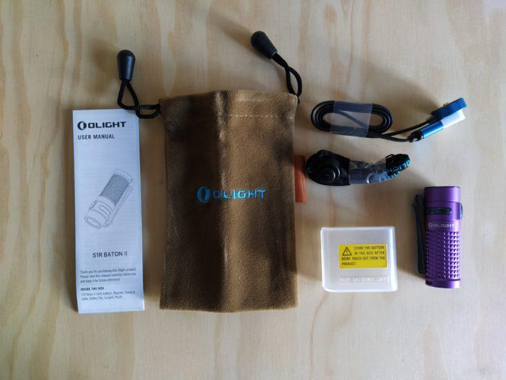 Olight S1R Baton II Taschenlampe Lieferumfang
