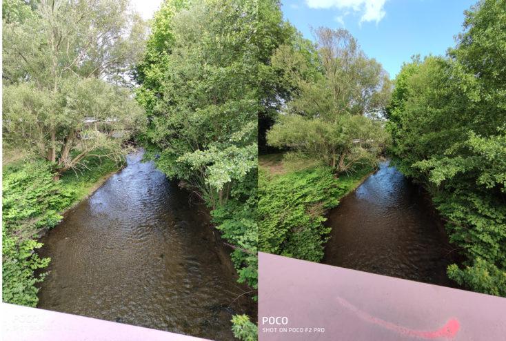 Poco F2 Pro Ultraweit vs Hauptkamera Testfoto Dynamikumfang