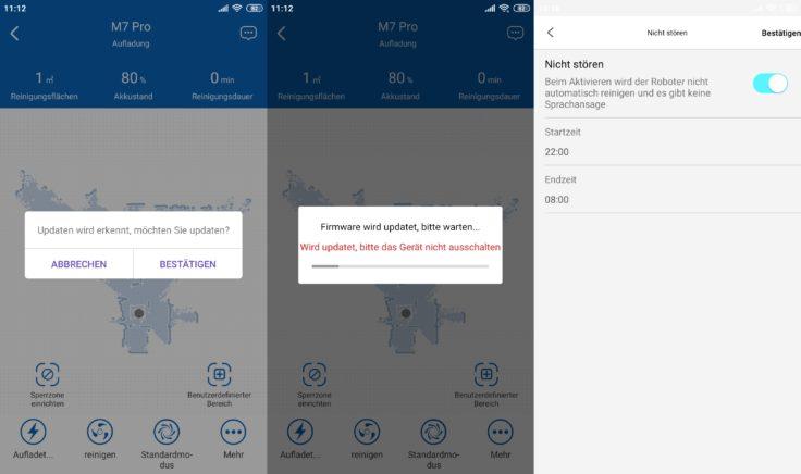 Proscenic M7 Pro Saugroboter Home App Firmware-Updates