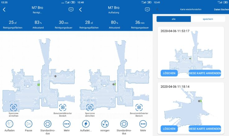 Proscenic M7 Pro Saugroboter Home App Mapping Kartenspeicherung