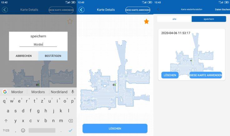 Proscenic M7 Pro Saugroboter Home App Mapping Kartenspeicherung Etagen