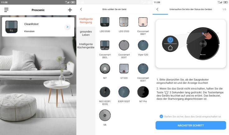 Proscenic M7 Pro Saugroboter Home App WLAN Einbindung