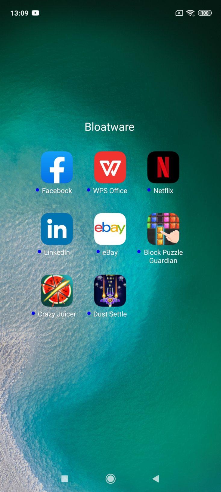 Redmi Note 9S MIUI Bloatware