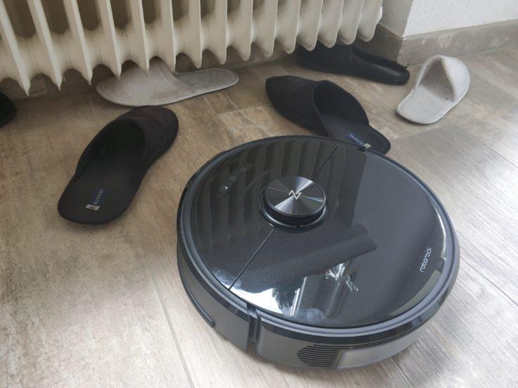 Roborock S6 MaxV Saugroboter Erkennung Hausschlappen