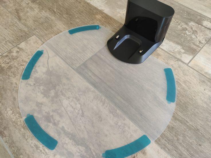 Roborock S6 MaxV Saugroboter Plastikschale Wischfunktion Ladestation Wasserauffangmatte