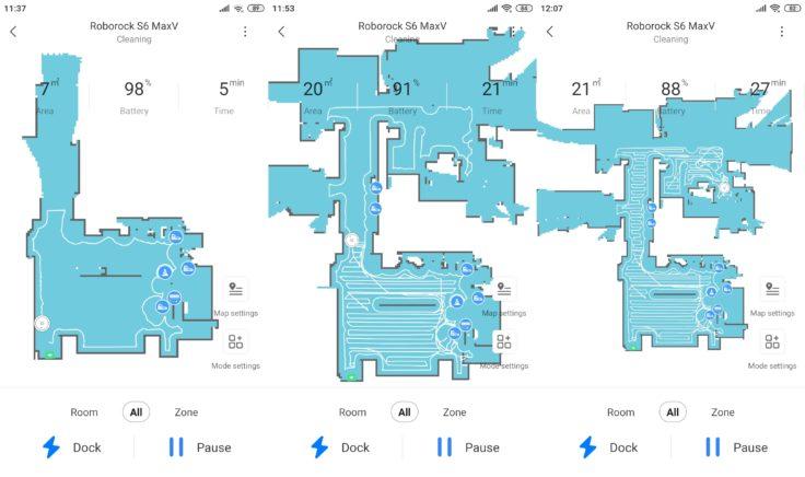Roborock S6 MaxV Saugroboter Xiaomi Home App Mapping
