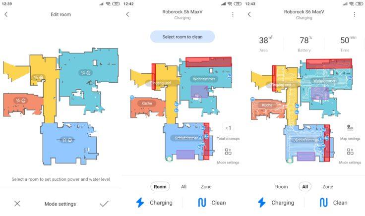 Roborock S6 MaxV Saugroboter Xiaomi Home App Selektive Raumeinteilung