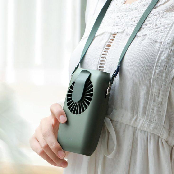 Umhaenge Ventilator um den Hals