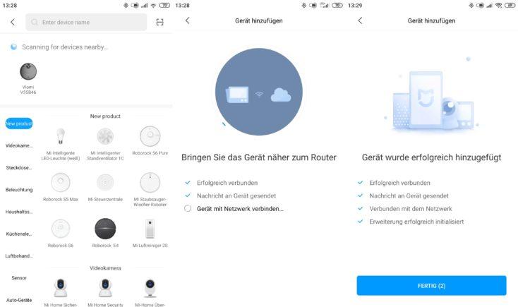 Viomi V3 Saugroboter Xiaomi Home App Einbindung WLAN