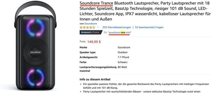 Anker Amazon Soundcore Trance