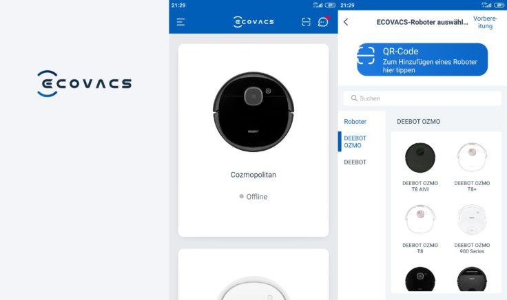 Ecovacs Deebot Ozmo T8 AIVI Saugroboter App
