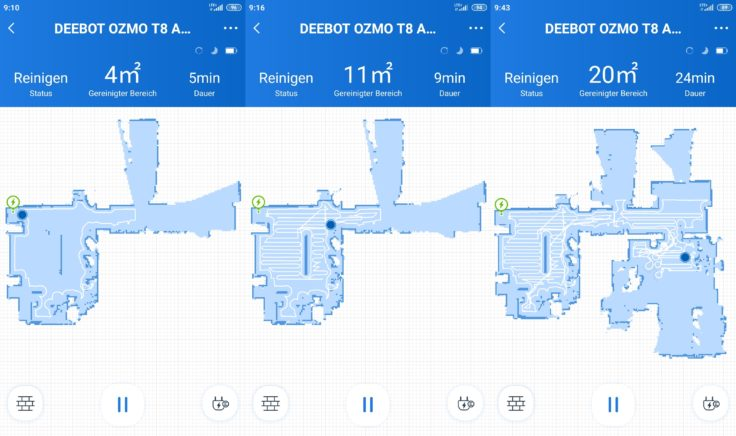 Ecovacs Deebot Ozmo T8 AIVI Saugroboter App Mapping