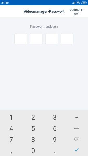 Ecovacs Deebot Ozmo T8 AIVI Saugroboter App Passwortschutz