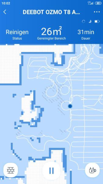 Ecovacs Deebot Ozmo T8 AIVI Saugroboter App Teppicherkennung