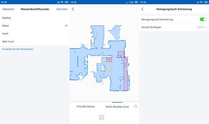 Ecovacs Deebot Ozmo T8 AIVI Saugroboter App Wischfunktion Einstellungen