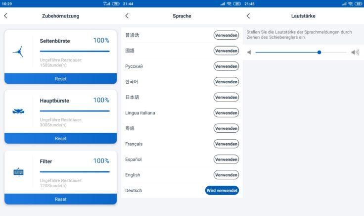 Ecovacs Deebot Ozmo T8 AIVI Saugroboter App Zustand Einzelteile Sprachpakete