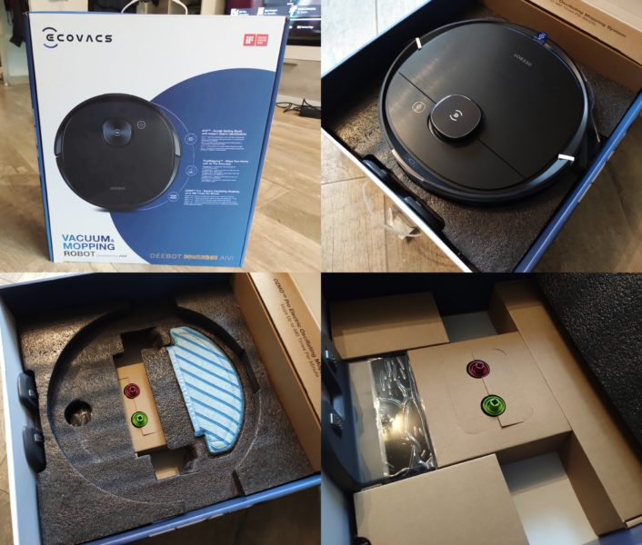 Ecovacs Deebot Ozmo T8 AIVI Saugroboter Verpackung
