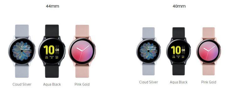 Galaxy Watch Active2 Aluminium Farben