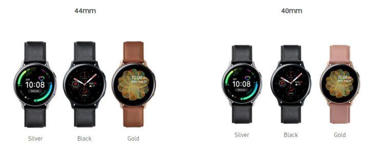 Galaxy Watch Active2 Edelstahl Farben