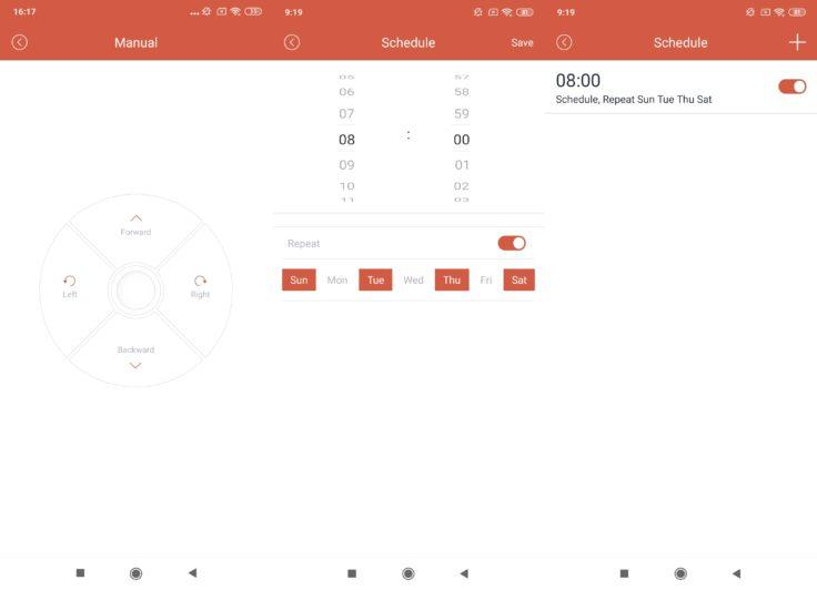 Haier TAB Tabot Saugroboter Tata Future App Fernbedienung Arbeitszeiten einplanen