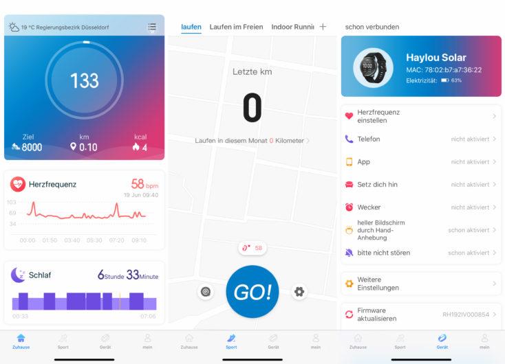 Haylou Fit App Einstellungen