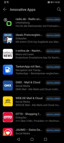 Huawei App Gallery Apps