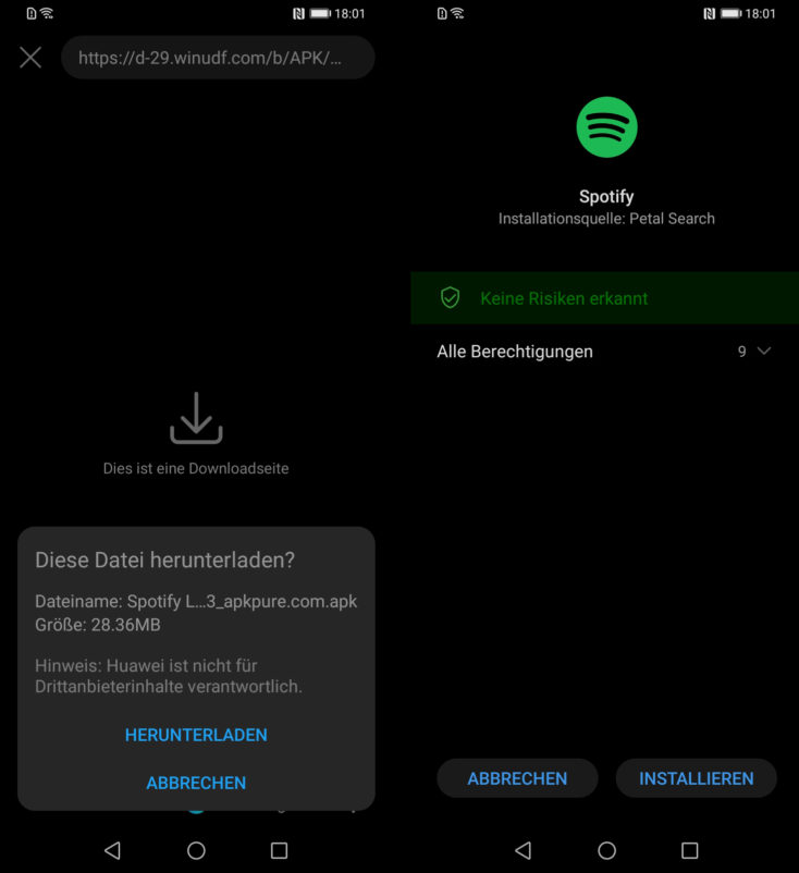 Huawei Petal Search App installieren
