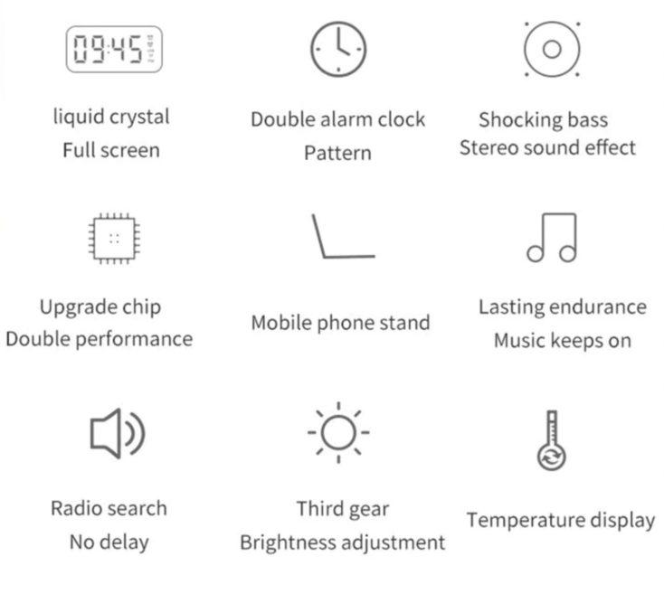 Lautsprecher Wecker Features