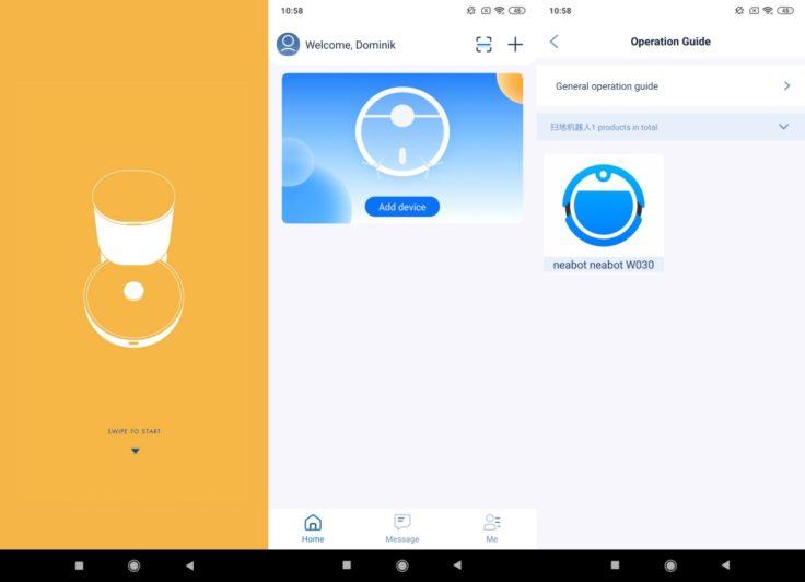 Neabot NoMo Saugroboter App Registrierung