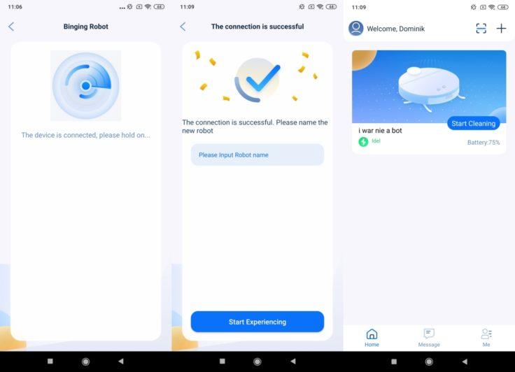 Neabot NoMo Saugroboter App WLAN-Einbindung erfolgreich