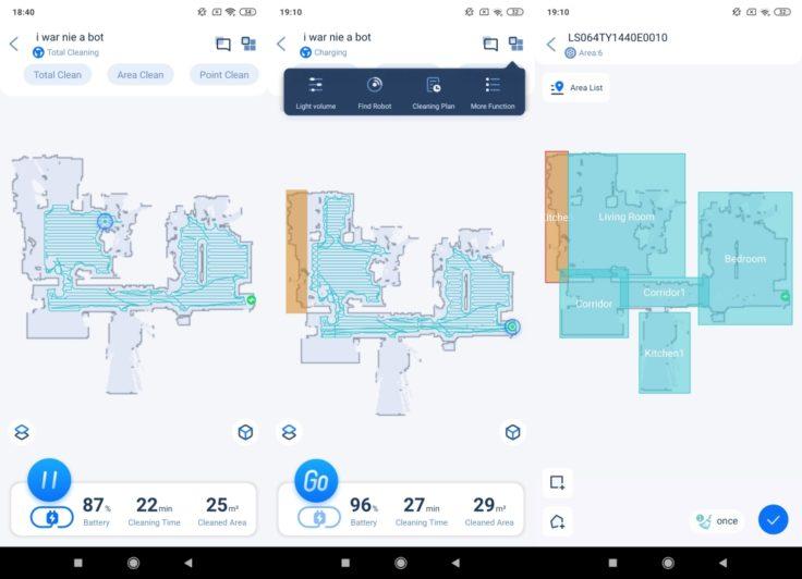 Neabot NoMo Saugroboter Home App Mapping selektive Raumeinteilung