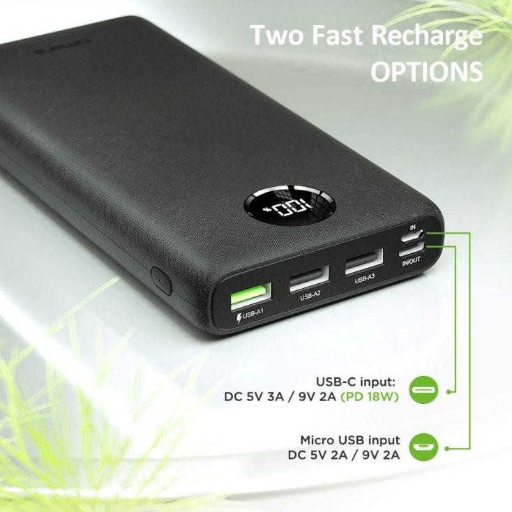 Omars 26.800 mAh USB Ports