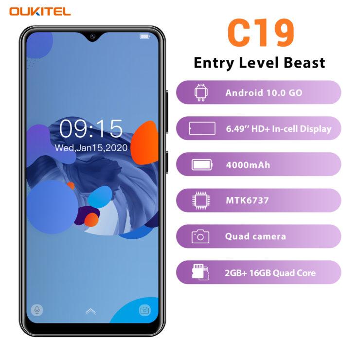 Oukitel C19 Smartphone Specs