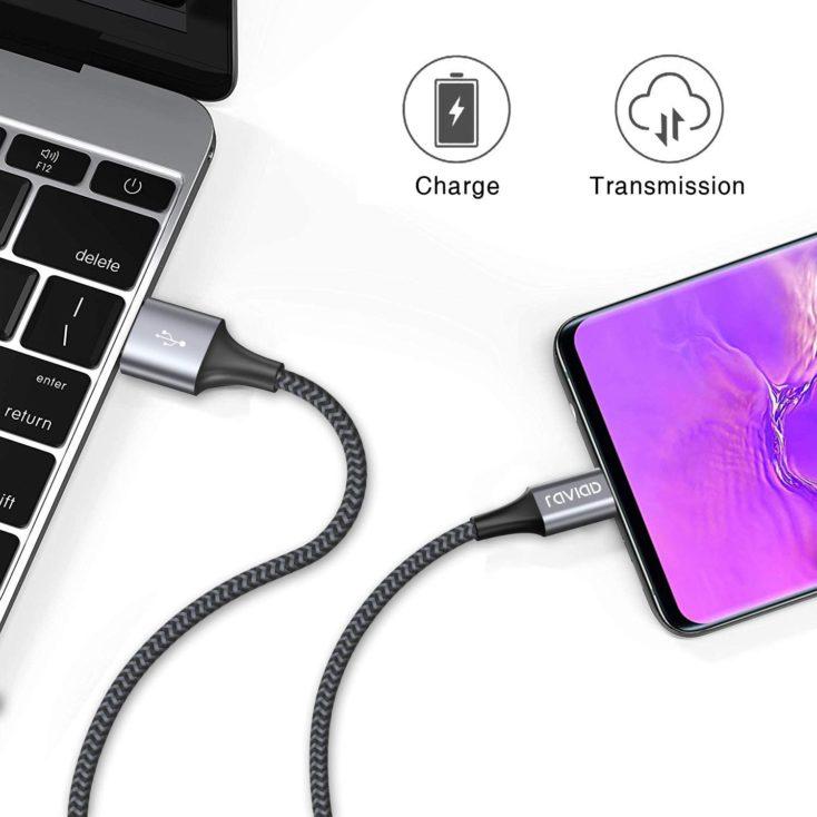 RAVIAD USB Typ C Kabel Datenuebertragung