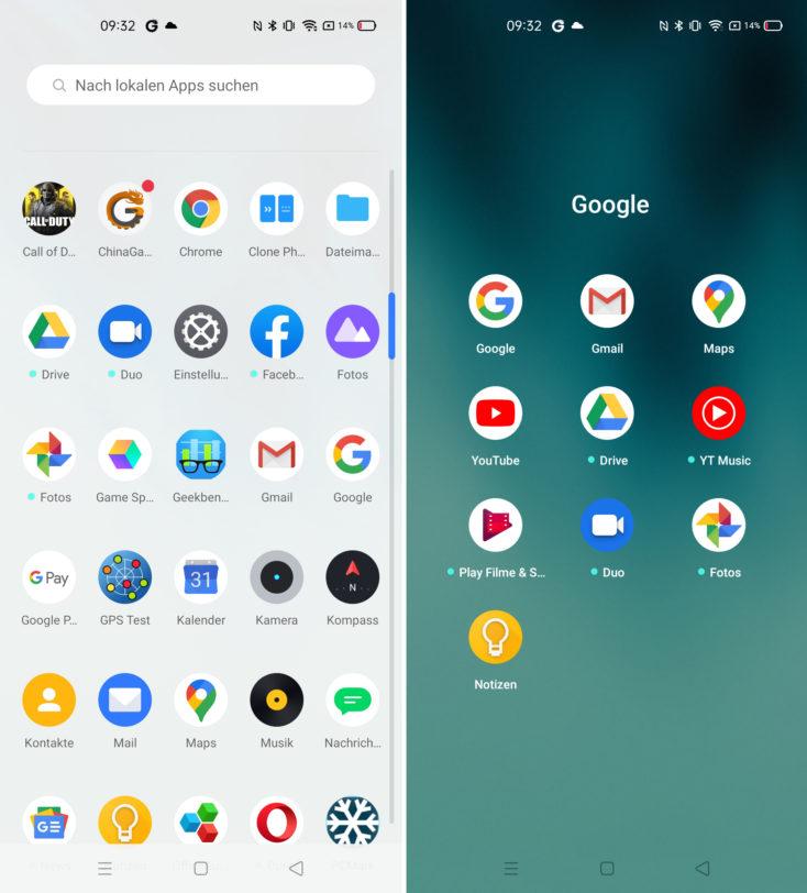 Realme 6 Pro Android 10 Google Dienste