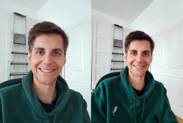 Realme 6 Pro Frontkamera Vergleich Ultraweitwinkel