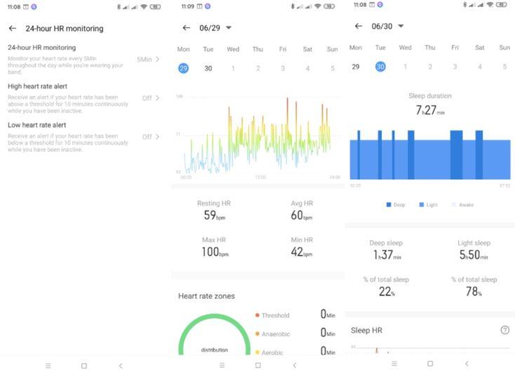 Realme Band Tracker Herzfrequenz Schlaf