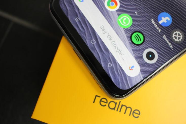 Realme X3 SuperZoom Bildschirmrand
